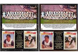 1960 World Series Champion Pittsburgh Pirates Photo Card Pla