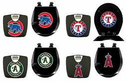 2 PC SET MLB THEMED BLACK FINISH DIGITAL BATHROOM SCALE ROUN