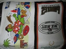 2 pittsburgh pirates beach towels mlb baseball