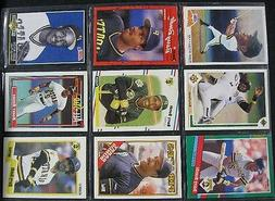 9 baseball cards in sleeve mostly barry