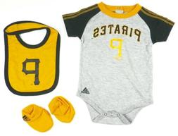 Infant Pittsburgh Pirates Creeper Set adidas Baby Bodysuit B