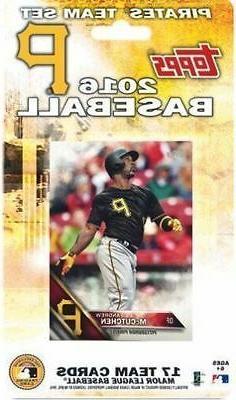 2016 Topps Pittsburgh Pirates Baseball ~ 17-Card Factory Sea