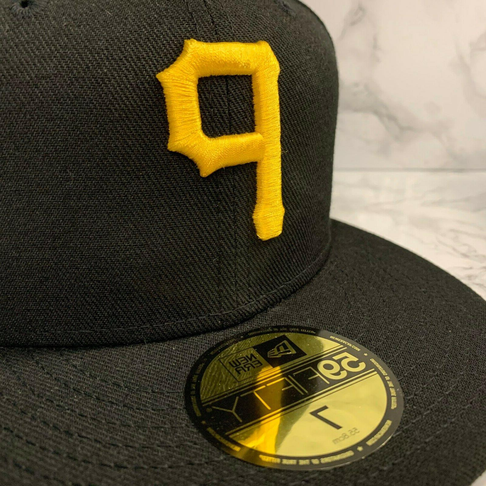 NEW 59FIFTY FITTED PITTSBURGH BLACK MEN HATS