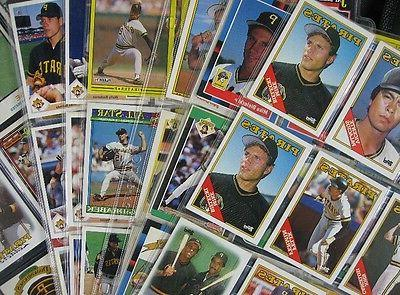 99 baseball cards in sleeves 1980 s