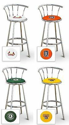 bar stool mlb team logo decal 24