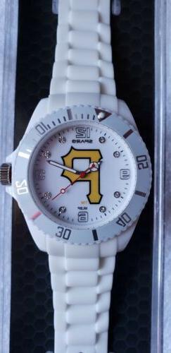 Sparo Cloud Pittsburgh Pirates MLB White Women's Watch
