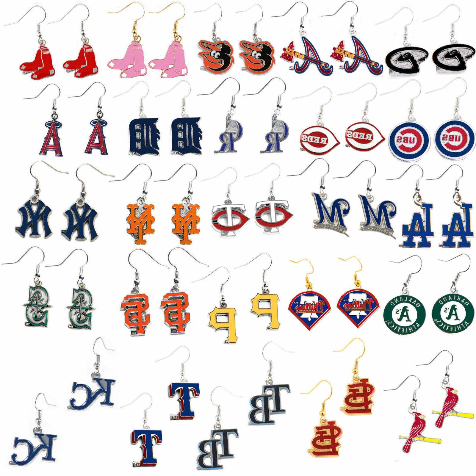 earring dangle logo charm mlb pick your