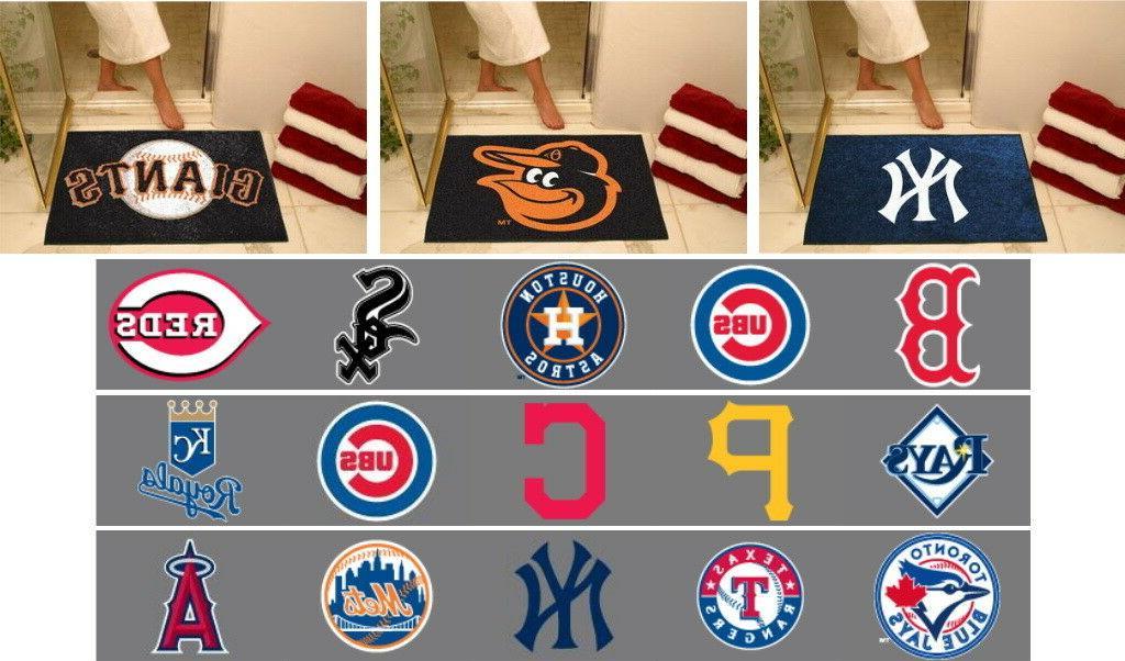 mlb bath mat area rugs choose your