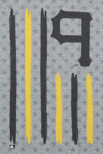 Klew MLB Men's Pittsburgh Pirates Flag T-Shirt, Gray