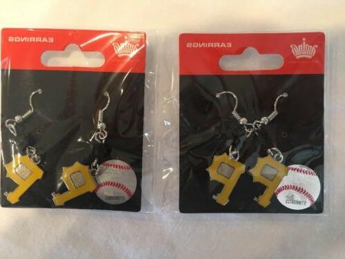 new pittsburgh pirates mlb dangle earrings 2