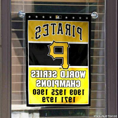 Pittsburgh Pirates 5-Time World Series Garden and Banner