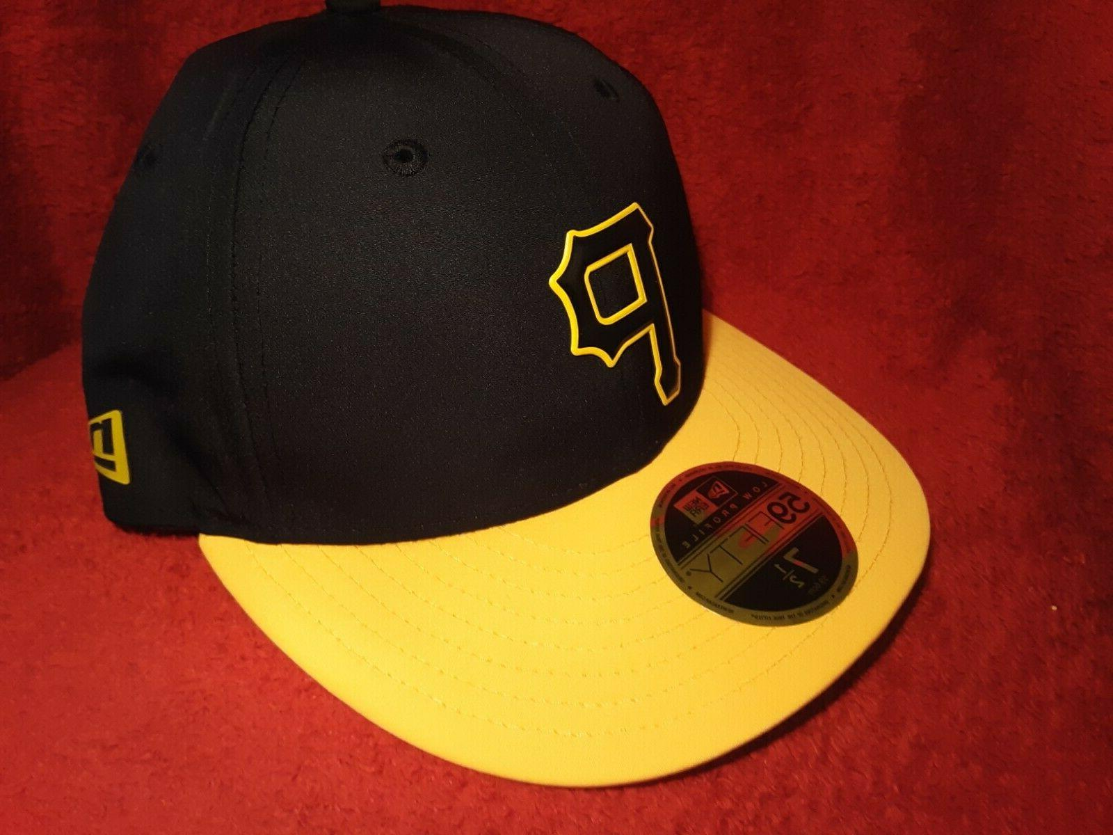 Pittsburgh Pirates Era Fitted Hat Black Gold Profile With Tags