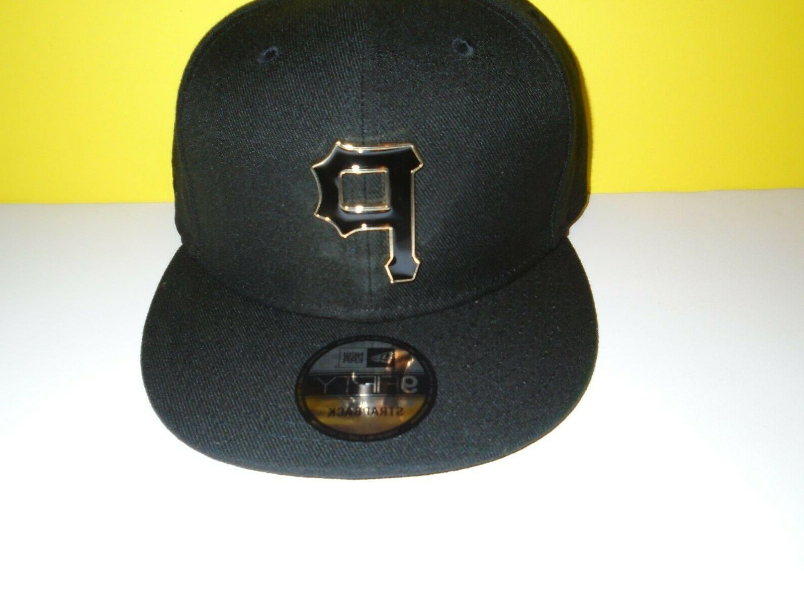 pittsburgh pirates 9fifty black and gold metal