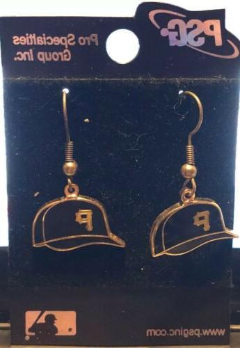 pittsburgh pirates baseball hat cap earrings mlb