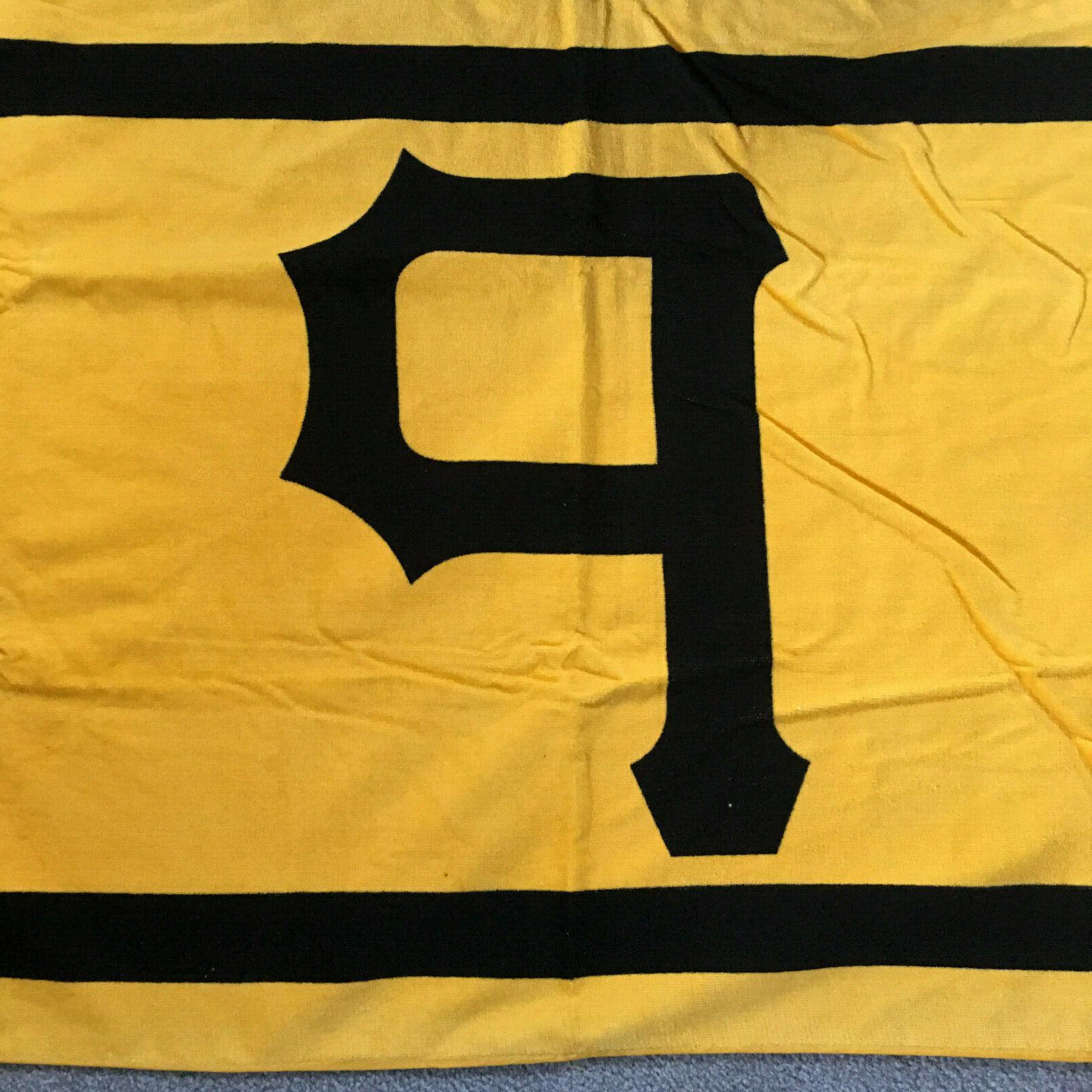 "Pittsburgh Pirates Beach Towel Cotton X 27"" Coca-Cola Black Gold"