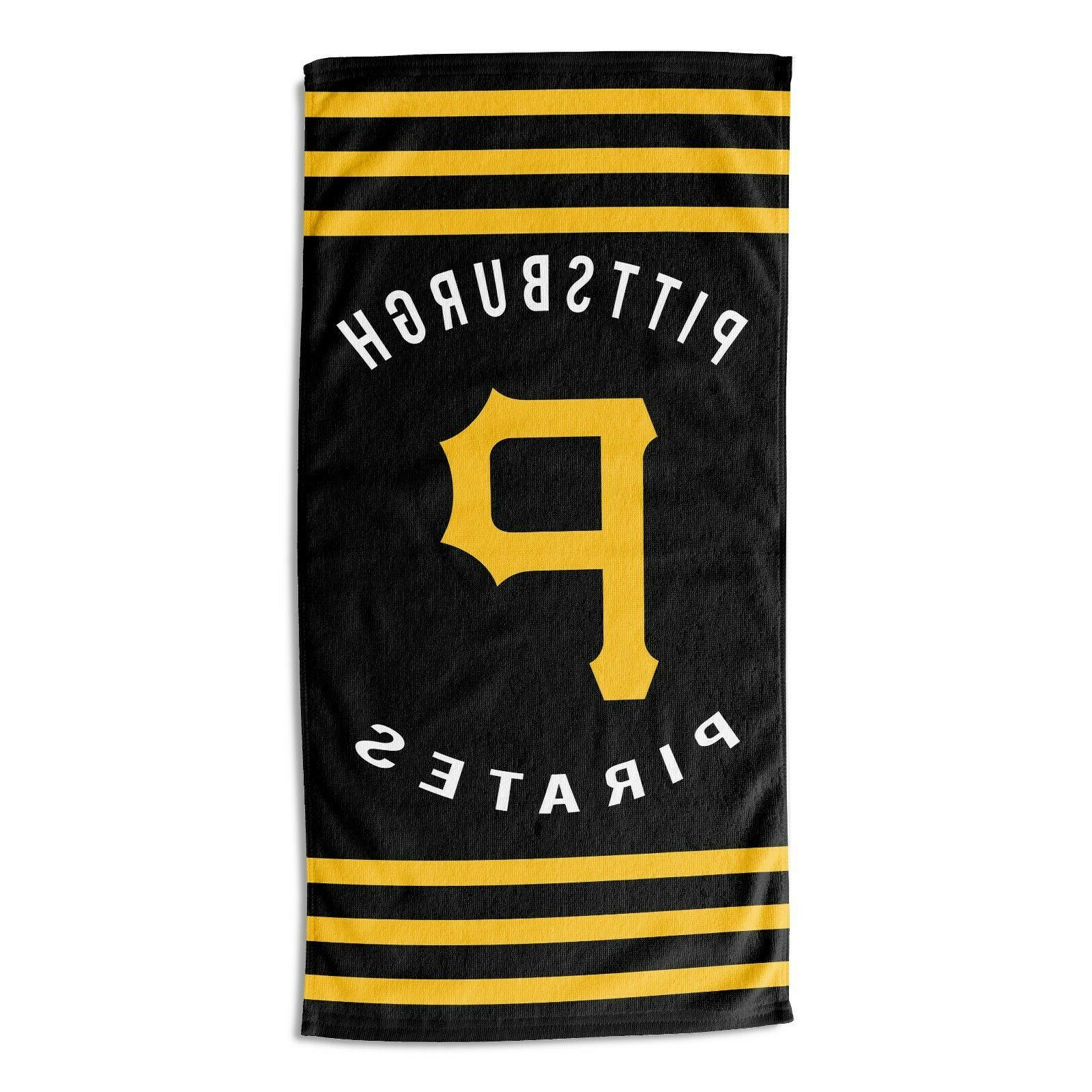 pittsburgh pirates beach towel stripes official mlb