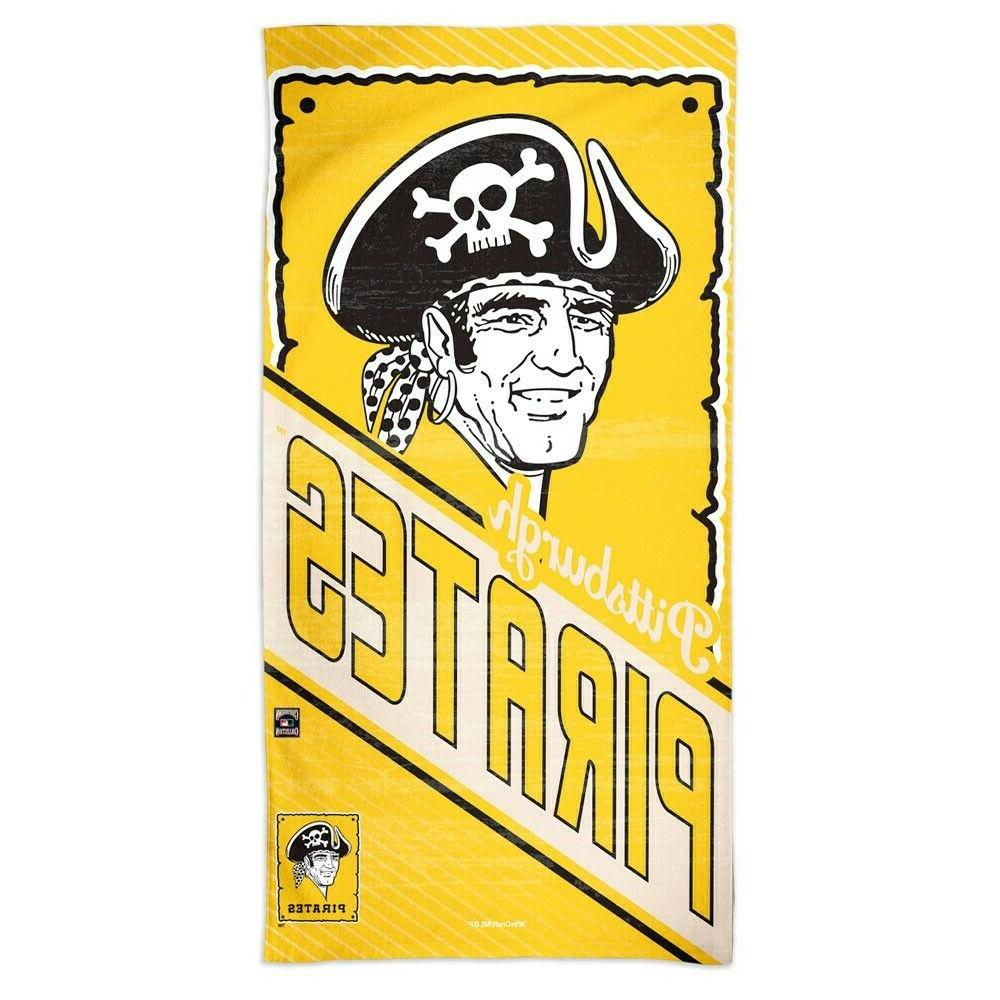 pittsburgh pirates cooperstown retro logo 30 x60