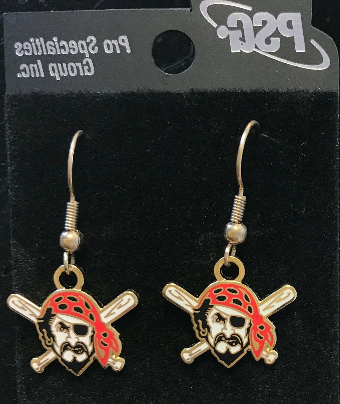 pittsburgh pirates logo j hook earrings new
