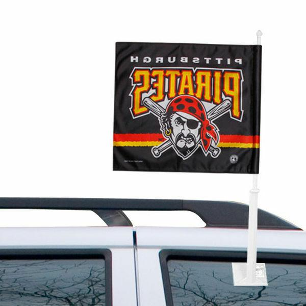 pittsburgh pirates mlb double sided car flag
