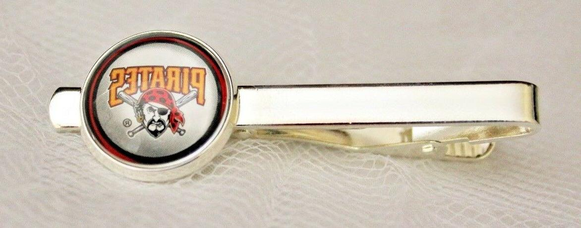 pittsburgh pirates tie clip made from baseball