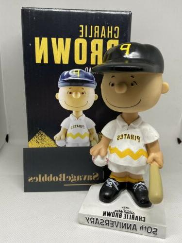 pittsburgh pirates white charlie brown bobblehead bobble