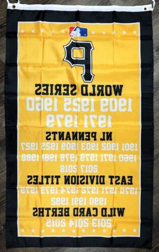 Pittsburgh World Series Championship 3x5 MLB