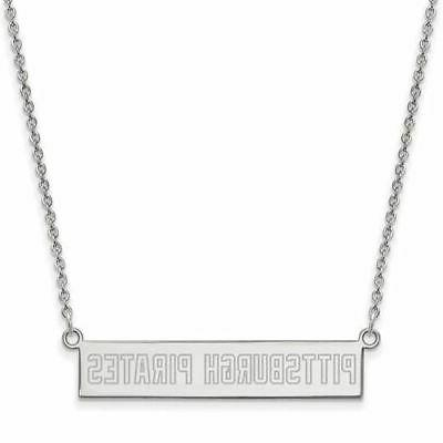 ss pittsburgh pirates small bar necklace