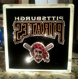 Lighted Pittsburgh Pirates  Glass Block Light~ Home Decor~Gi