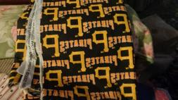 Lot of 2 pcs Pittsburgh Pirates design cotton quilt fabric