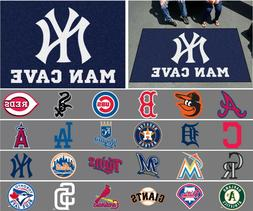 mlb man cave area rugs 5 x