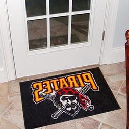 "MLB Pittsburgh Pirates 19"" x 29"" Black Logo Starter Mat"