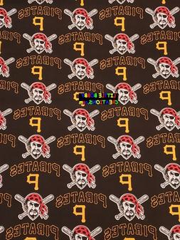 MLB PITTSBURGH PIRATES Cotton Fabric - 1/4 to 1/2 YARD