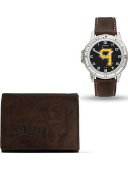 MLB Pittsburgh Pirates Leather Watch/Wallet Set by Rico Indu