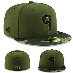 New Era MLB pittsburgh Pirates Olive Green Fitted Hat Green