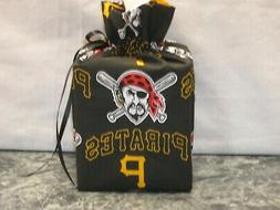 MLB Pittsburgh Pirates on black Cotton Fabric Handmade squar