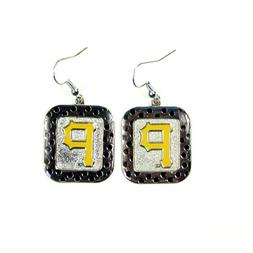 MLB Pittsburgh Pirates Polka Dot Style Dangle Earrings Ladie