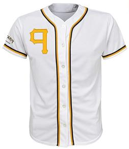 MLB Pittsburgh Pirates White Youth Team Apparel Home Jersey