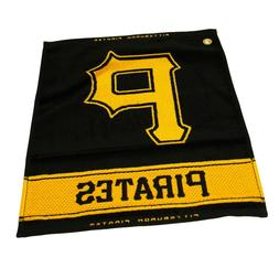 MLB Pittsburgh Pirates Woven Towel, Black