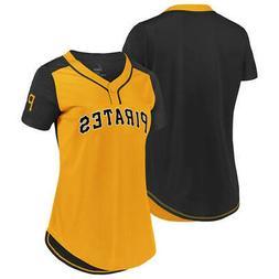 New MLB Pittsburgh Pirates Majestic Women's Cool Base T-Shir