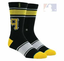 NEW STANCE Pittsburgh Pirates Crew Socks Men's Size Large 9-