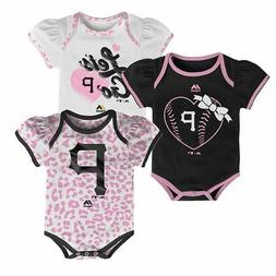 NWT Baby Girl MLB Pittsburgh Pirates Bodysuit Outfit 3 Piece