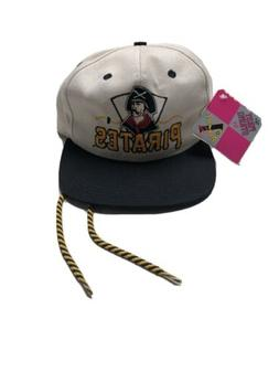 NWTS Vintage Pittsburgh Pirates Draw String Hat Genuine Merc