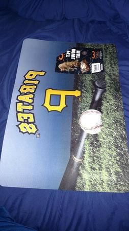 pet bowl mat Pittsburgh pirates