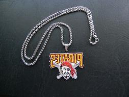 PITTSBURG PIRATES MLB TEAM CHARM FOB PENDANT STAINLESS STEEL