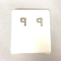 Pittsburgh Pirate Sterling Silver Post Earrings 1246-645-25
