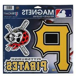 "Pittsburgh Pirates WinCraft 11"" X 11"" 3-Pack Car Magnets"