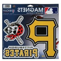 """Pittsburgh Pirates WinCraft 11"""" X 11"""" 3-Pack Car Magnets"""