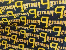 "Pittsburgh Pirates  11"" x 54"" MLB Cotton Fabric New"