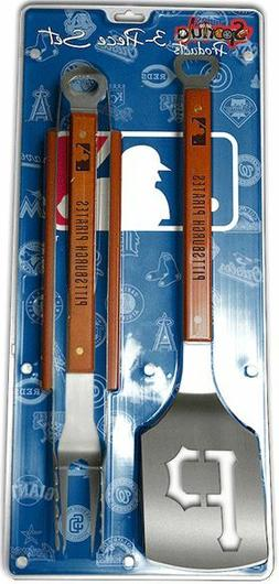Pittsburgh Pirates 3 Piece BBQ Grill Tools Tongs Spatula For