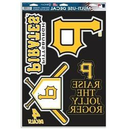 "PITTSBURGH PIRATES 4 PIECE MULTI-USE DECALS 11""X17"" WINDOWS"